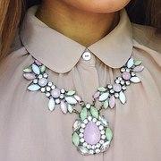 Колье серьги ожерелье на шею бижутерия