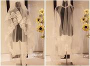 Свадебная фата с кружевом 280 см