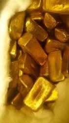 Золотая пыль,  золотые слитки и золотой самородок для продажи