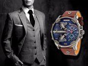 + Подарок!!! Брутальные мужские часы Diesel Brave